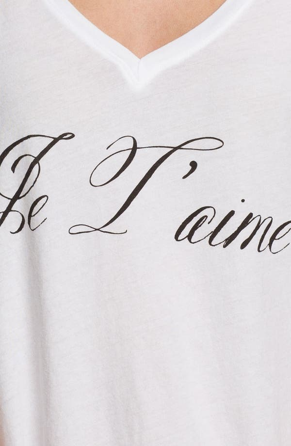 Alternate Image 3  - Wildfox 'Je T'aime' Graphic Deep V-Neck Tee