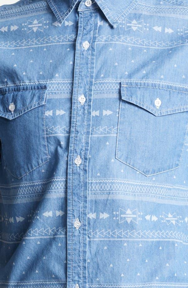 Alternate Image 3  - Topman 'Aztec' Print Denim Shirt