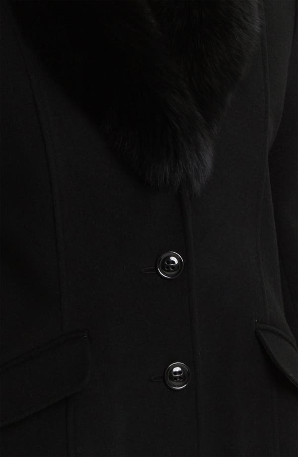 Alternate Image 3  - Sachi Genuine Fox Fur Collar Coat