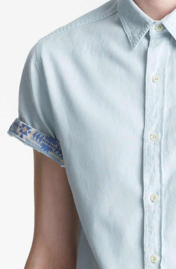 Alternate Image 3  - Topman Short Sleeve Chambray Shirt