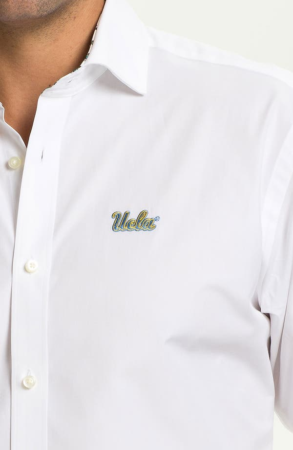 Alternate Image 3  - Thomas Dean 'UCLA' Traditional Fit Sport Shirt