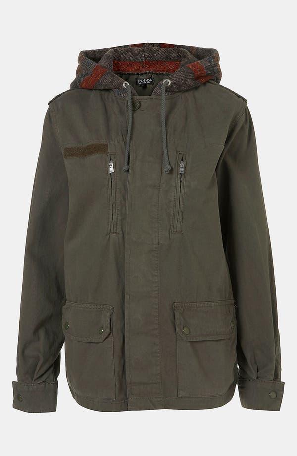 Alternate Image 1 Selected - Topshop Baja Hooded Army Jacket