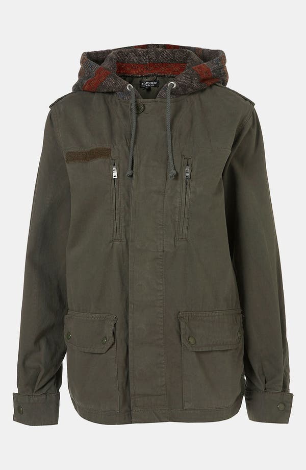 Main Image - Topshop Baja Hooded Army Jacket