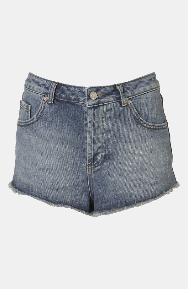 Main Image - Topshop Moto 'Holly' Denim Shorts