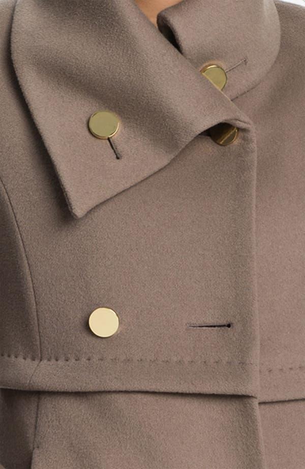 Alternate Image 3  - Elie Tahari Leather Trim Wool Coat