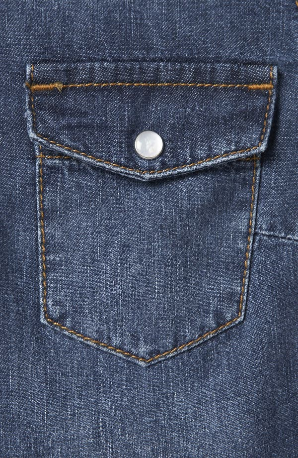 Alternate Image 3  - Topshop 'Dillon' Studded Denim Shirt (Petite)