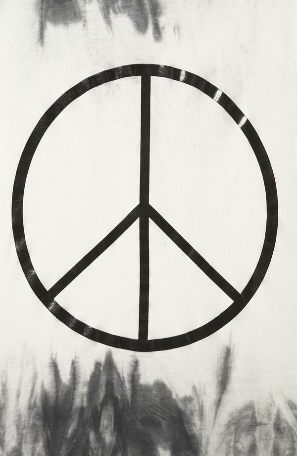 Alternate Image 3  - Topshop Peace Graphic Tie Dye Tank
