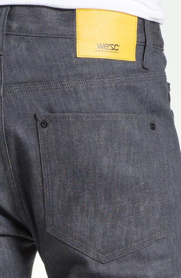 Alternate Image 4  - WeSC 'Eddy' Slim Fit Jeans (Raw Grey)