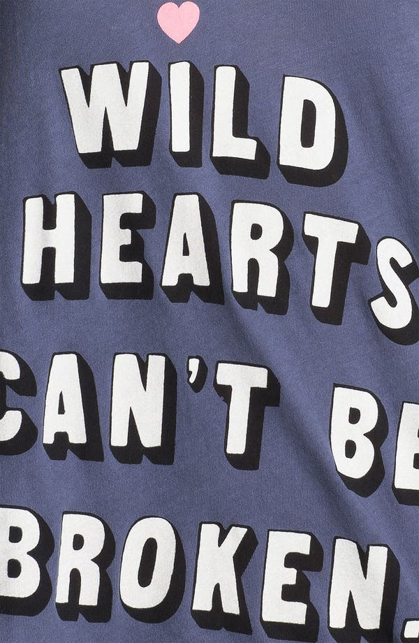 Alternate Image 3  - Wildfox 'Wild Hearts' Graphic Deep V-Neck Tee
