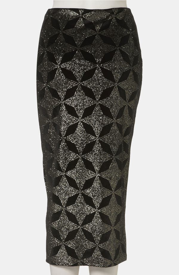 Alternate Image 2  - Topshop Glitter Print Tube Skirt