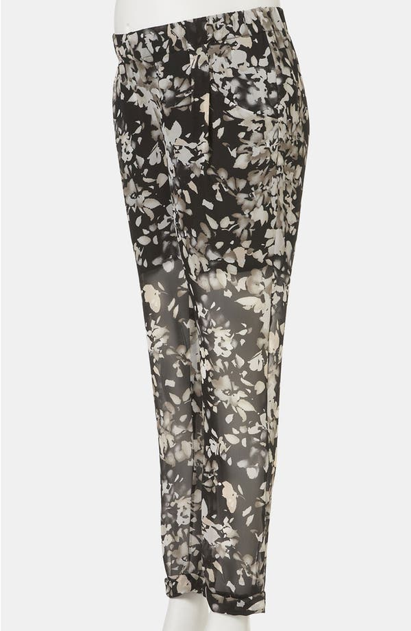 Alternate Image 2  - Topshop 'Shadow Floral' Sheer Chiffon Maternity Trousers