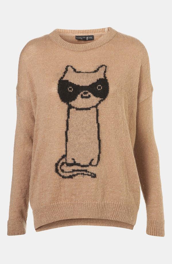 Main Image - Topshop 'Cat Burglar' Graphic Sweater (Petite)