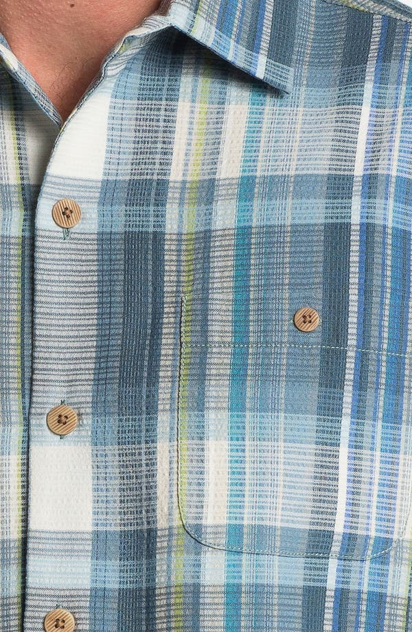 Alternate Image 3  - Tommy Bahama 'Sand Plaid' Silk Campshirt