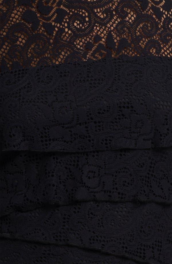 Alternate Image 3  - Laundry by Shelli Segal Illusion Yoke Tiered Lace Dress
