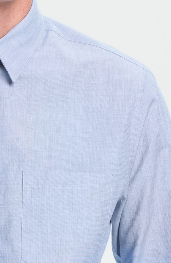 Alternate Image 3  - Topman Slim Fit End-on-End Woven Dress Shirt