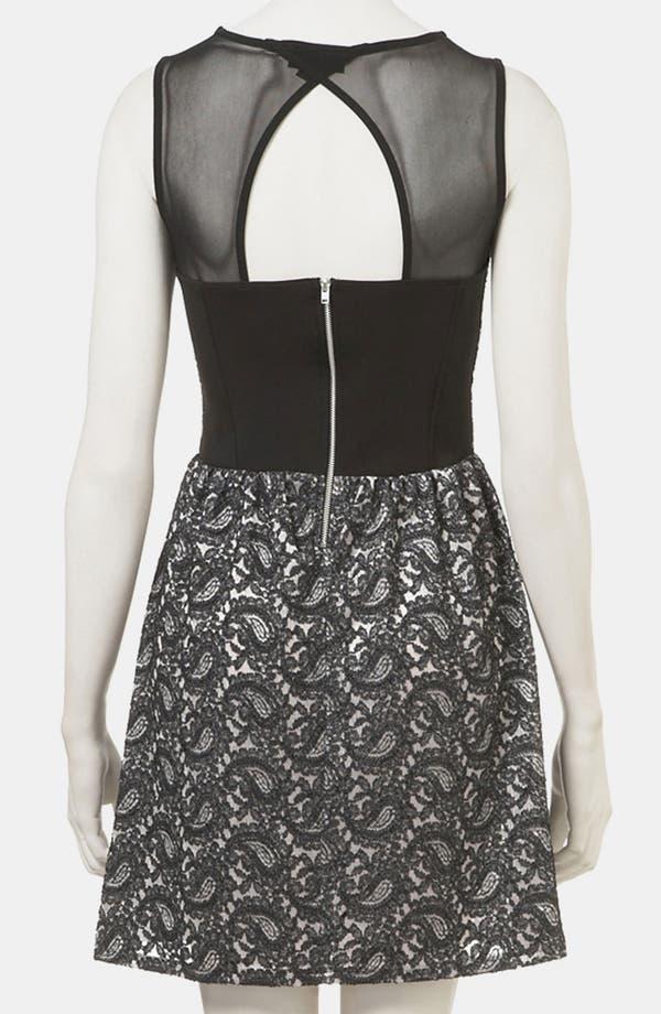Alternate Image 2  - Topshop Paisley Lace Dress