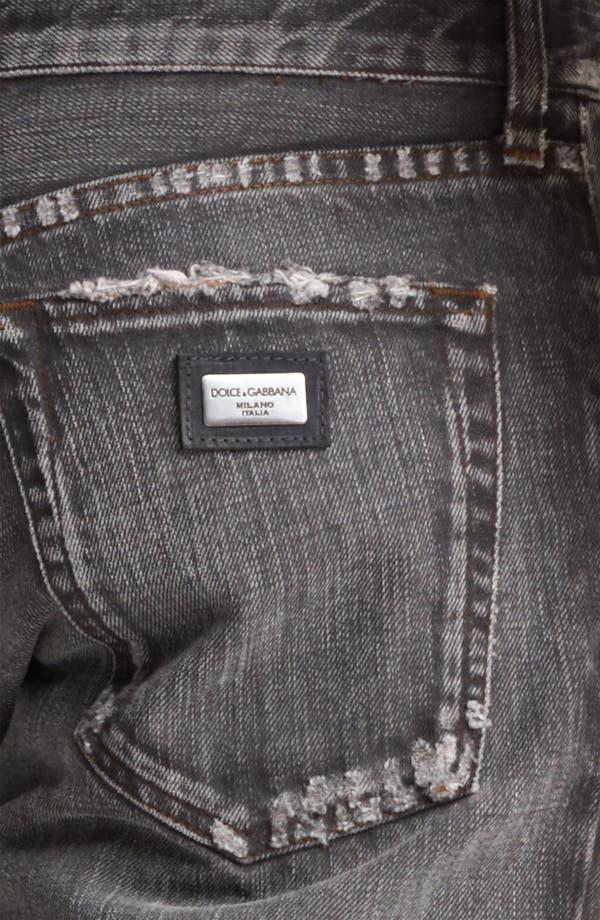 Alternate Image 4  - Dolce&Gabbana Slim Straight Leg Jeans (Dark Grey)