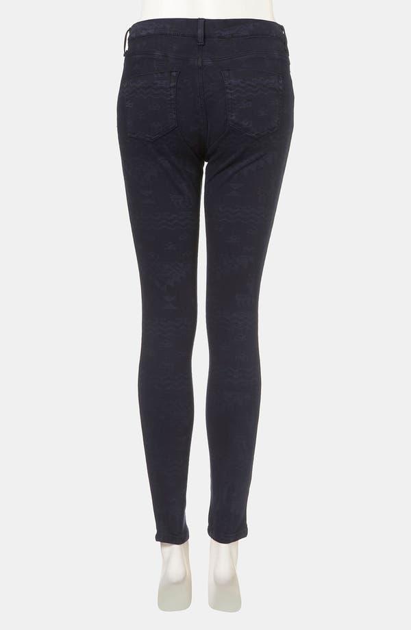 Alternate Image 2  - Topshop Moto 'Leigh' Andean Print Skinny Jeans