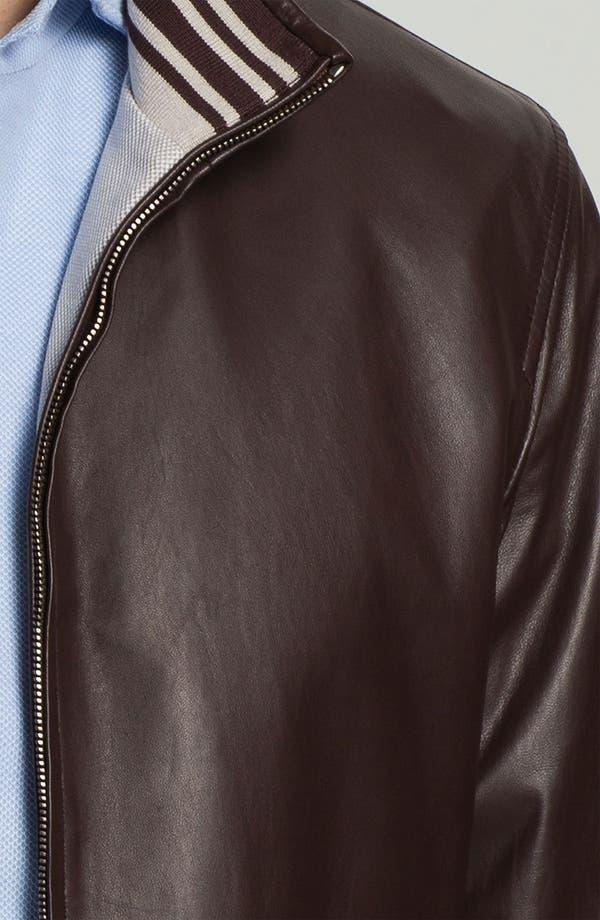 Alternate Image 3  - Canali Reversible Leather Jacket