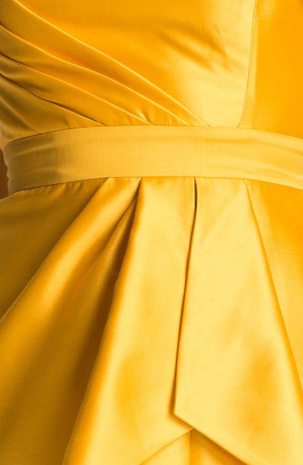 Alternate Image 3  - Shoshanna Strapless Pleat Detail Silk Sheath Dress