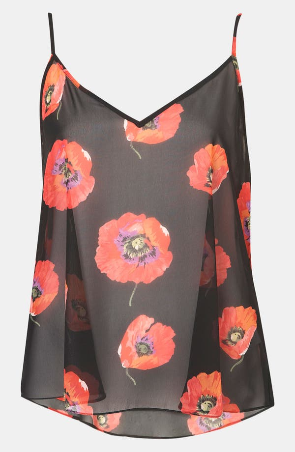 Alternate Image 1 Selected - Topshop Poppy Print Camisole