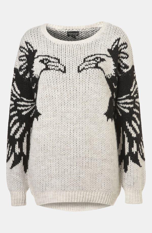 Main Image - Topshop 'Mirror Eagle' Sweater