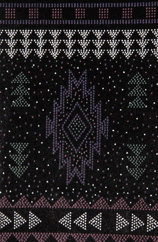 Alternate Image 3  - Topshop Aztec Print Velvet Skater Dress