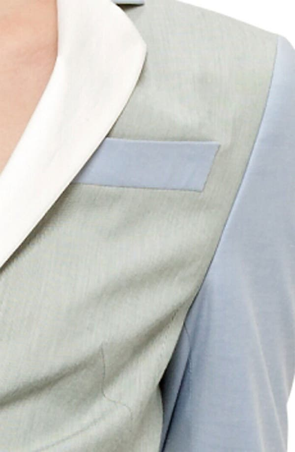 Alternate Image 6  - Akris punto Long Colorblock Blazer