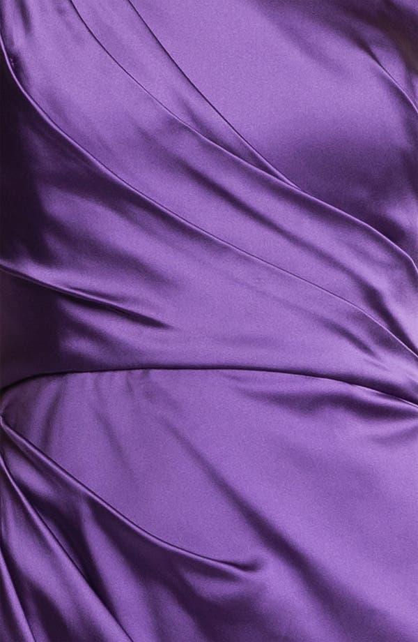 Alternate Image 3  - Jill Stuart One Shoulder Side Ruched Satin Sheath Dress