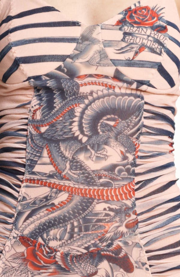 Alternate Image 3  - Jean Paul Gaultier Fuzzi Tattoo Print Tulle Dress