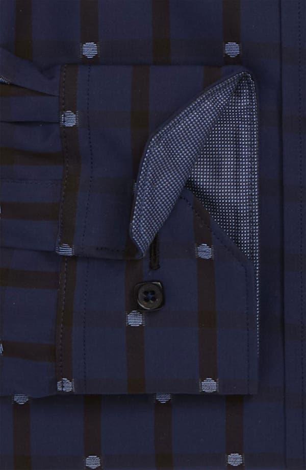 Alternate Image 5  - Bugatchi Uomo Shaped Fit Sport Shirt