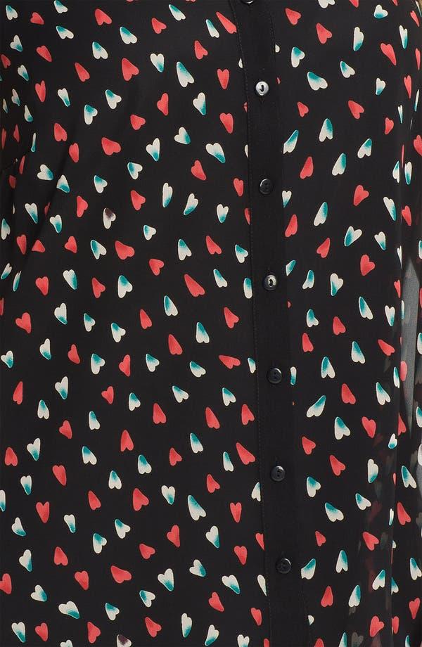 Alternate Image 3  - Evans Sleeveless Heart Print Blouse (Plus Size)