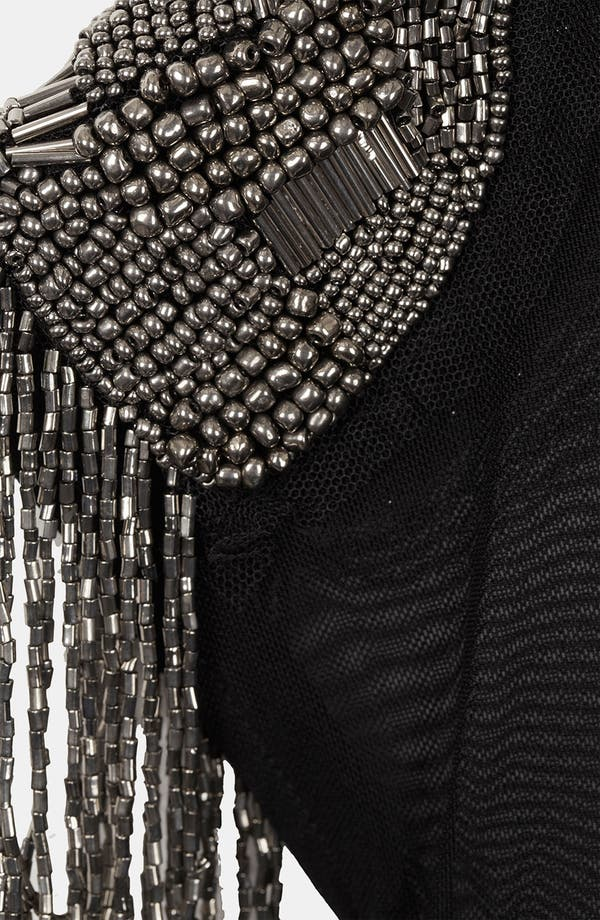 Alternate Image 3  - Topshop Fringe Embellished Skater Dress