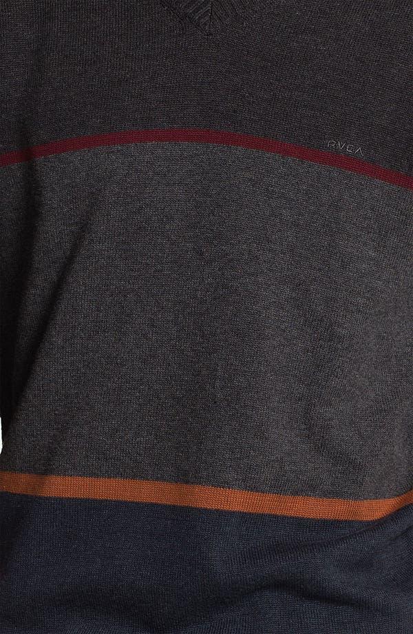 Alternate Image 3  - RVCA Stripe Crewneck Sweater