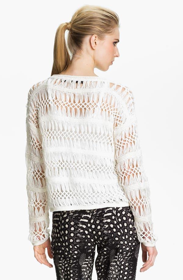 Alternate Image 3  - Cut25 Open Macramé Sweater