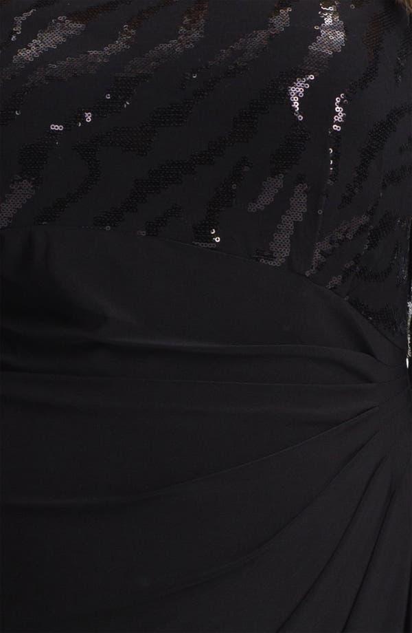 Alternate Image 3  - Alex Evenings Embellished Ruched Jersey Dress (Plus)