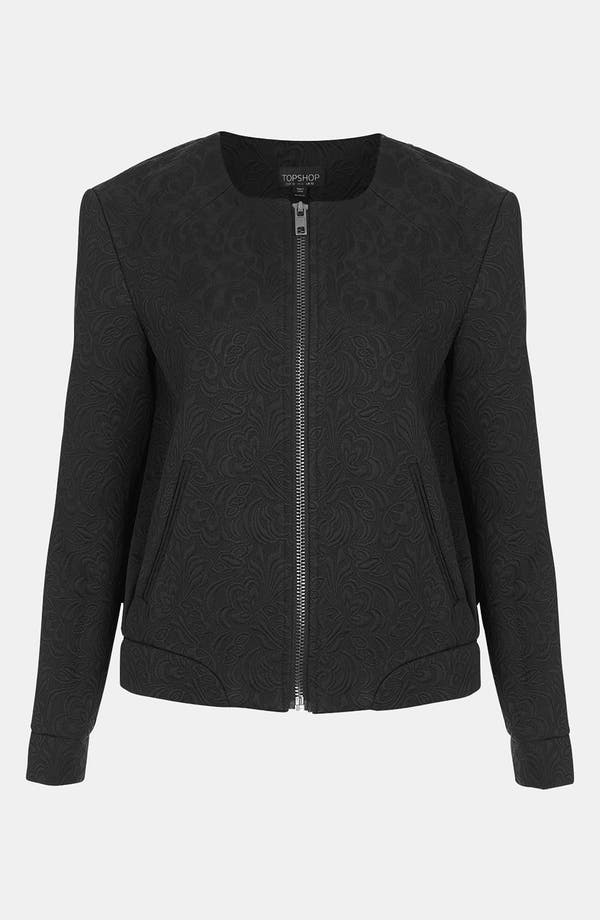 Alternate Image 1 Selected - Topshop Modern Jacquard Bomber