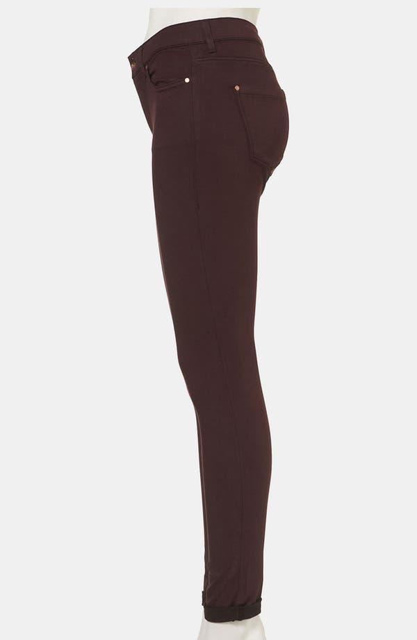 Alternate Image 4  - Topshop Moto 'Leigh' Skinny Jeans (Wine)