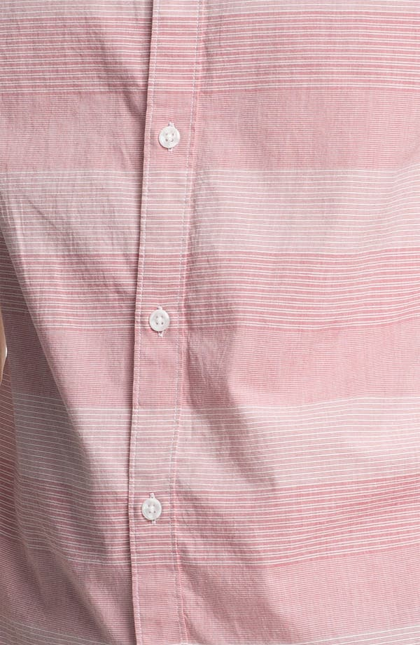 Alternate Image 3  - Original Penguin Classic Fit Stripe Woven Shirt