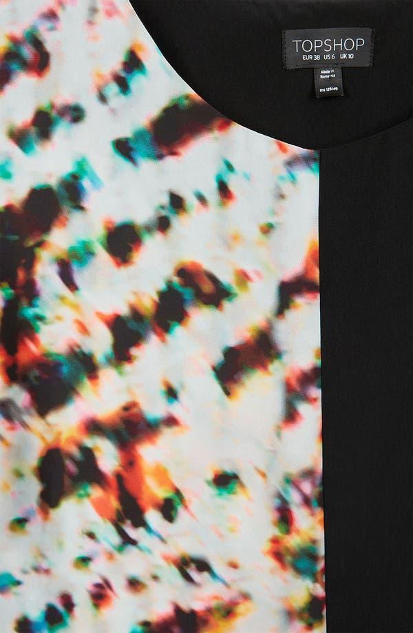 Alternate Image 3  - Topshop 'Half & Half' Mixed Print Tee