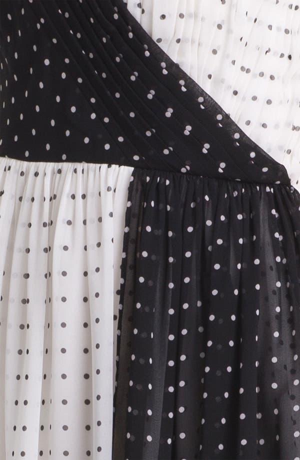 Alternate Image 3  - Donna Morgan Colorblock Polka Dot Dress