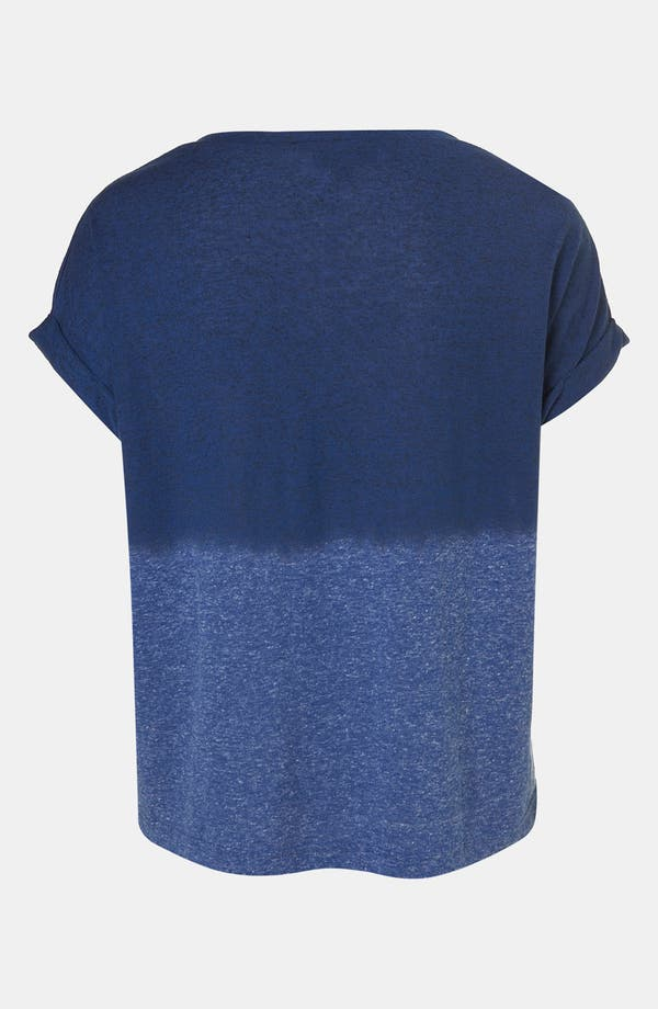 Alternate Image 2  - Topshop Dip Dye Roll Sleeve Tee
