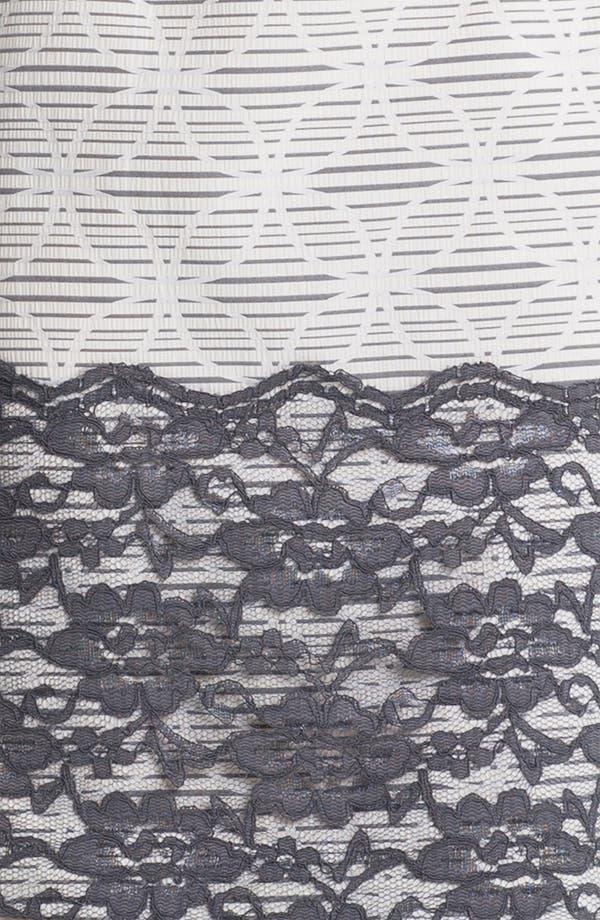 Alternate Image 3  - Maggy London Lace Appliqué Print Sheath Dress