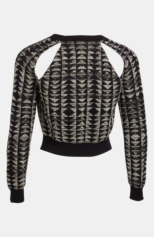 Alternate Image 2  - Viva Vena! Cutout Geometric Jacquard Sweater