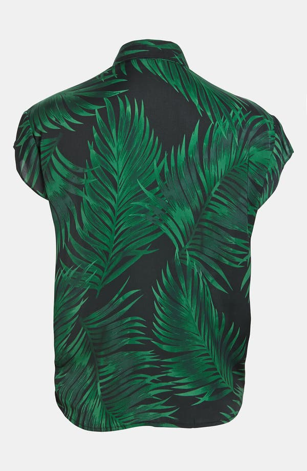 Alternate Image 3  - BB Dakota Palm Frond Print Shirt