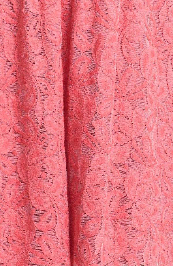 Alternate Image 3  - Fire High/Low Lace Bustier Dress (Juniors)