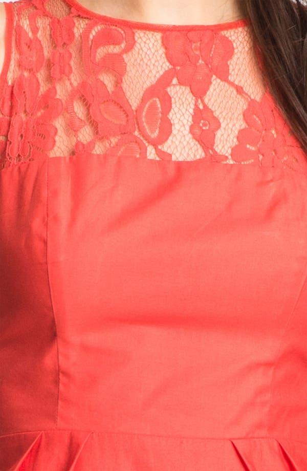 Alternate Image 3  - BB Dakota 'Mandy' Lace Yoke Cotton Sheath Dress