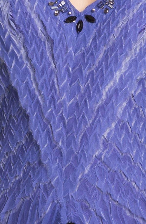 Alternate Image 3  - Black by Komarov Embellished Textured A-Line Dress