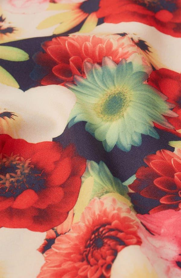 Alternate Image 3  - Topshop 'Bouquet' Digital Print T-Back Cover-Up