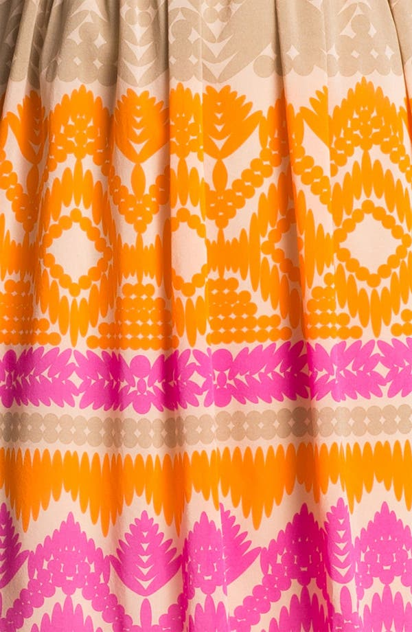 Alternate Image 3  - Trina Turk 'Gypsum' Stretch Silk Fit & Flare Dress